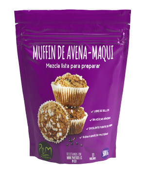 Premezcla Muffin De Avena-Maqui 500 grs.