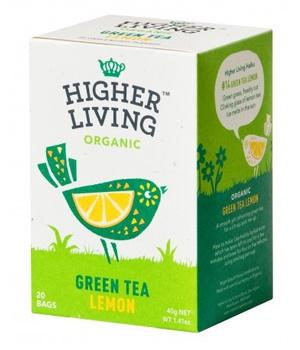 Te Verde organico con Limon 20 bolsitas 40 gr.
