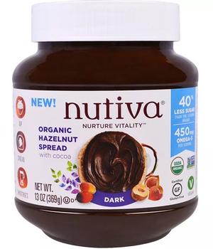 Crema de Avellana y Chocolate organico Dark 368 gr.