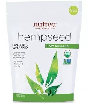 semillas organicas de cañamo sin cascara. 227 gr.