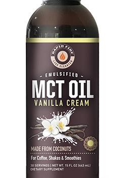 Aceite MCT con Crema de vainilla. 443 ml.