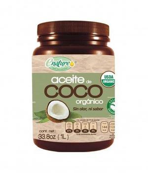 Aceite coco Orgánico sin olor y sin sabor 1 litro