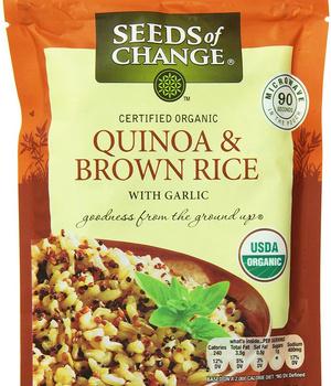 Quinua orgánica y arroz integral con ajo. 250 gr