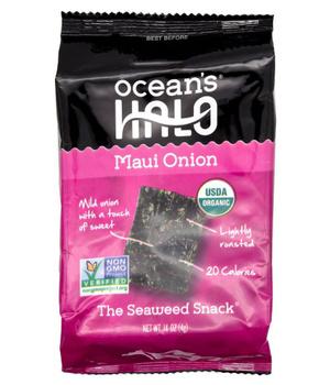 Snack de Láminas de Algas Marinas Orgánicas Sabor Cebolla de Maui 4 grs.