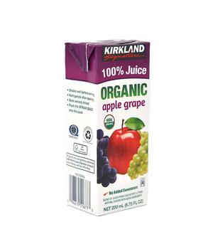 Jugo 100% Orgánico Manzana Uva 200 ml.