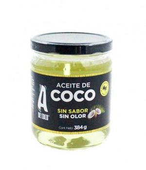 Aceite de coco sin sabor y sin olor 384 gr