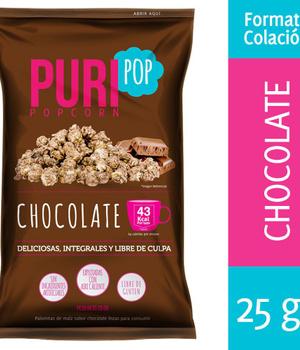 Popcorn chocolate. 25 gr.