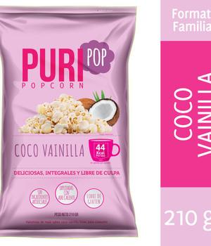 Popcorn coco vainilla. 210 gr.