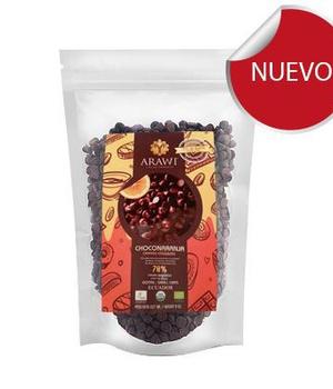 Cobertura de Chocolate Gotas 100% Sabor Naranja 227 gr