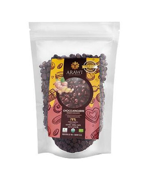 Cobertura de Chocolate Jengibre Orgánica 70% gotas 227 gr