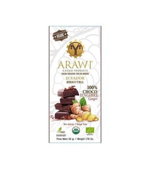 Barra Chocolate Jengibre 100% Cacao Orgánico 50 gr