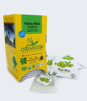 Yerba mate orgánica libre de Humo. 25 Sobres.