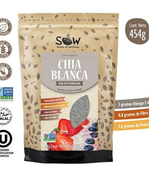 Semillas de Chia Blanca 454 grs.