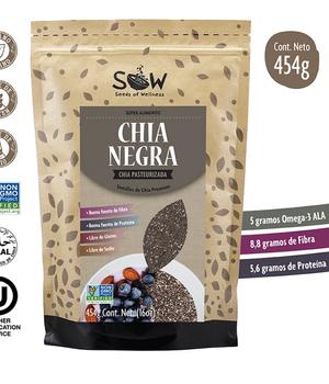 Semillas de Chia negra Organica. 454 gr.