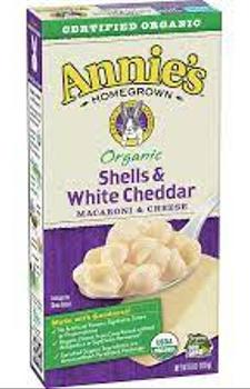 Macarrones organicos de queso Cheddar blanco 170 gr.