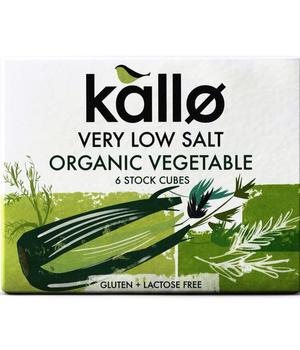 Caldo en cubitos de vegetales bajo en sal 66 gramos 6 unidades
