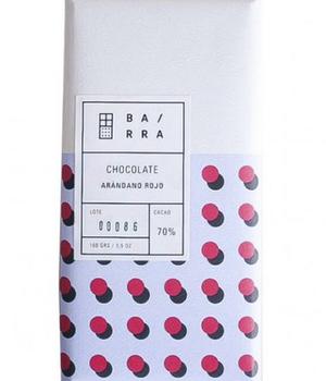 Chocolate en Barra de Arandanos Rojos 100 gr.