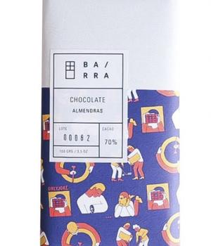 Chocolate en Barra de Almendras 100 gr.