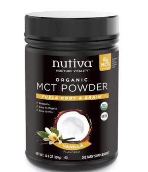 MCT orgánico en polvo sabor vainilla 300 gr.