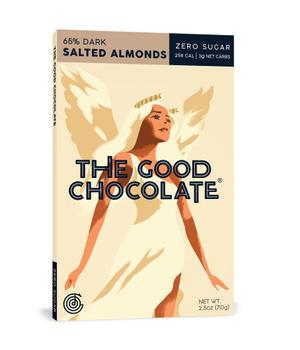 Chocolate en barra Almendras Saladas 65% cacao 70 gr.