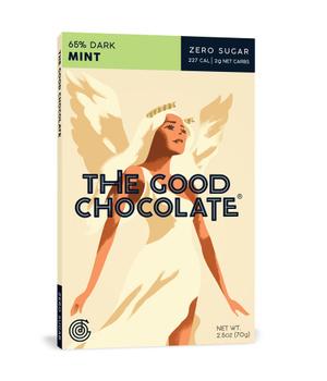 Chocolate Menta en Barra 65% Cacao 70 gr.