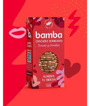 Crackers de Tomate y Semillas 150 grs. Bamba