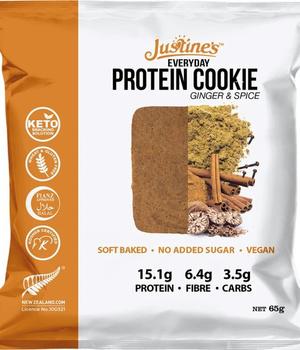 Galleta Vegana 15G Proteína Jengibre y Especias Justines 65 gr