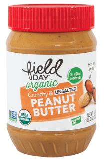 Mantequilla de maní orgánica crujiente sin sal 510 grs.