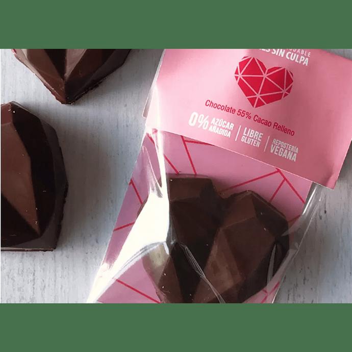 Corazón 55% cacao relleno