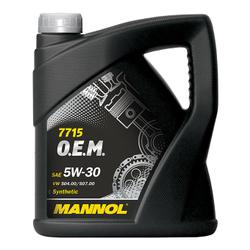 LUB MANNOL 5W30 SN/CF ACEA C3 O.E.M. VW/AUDI/SKODA 5L