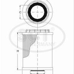 FILTRO ELEMENTO HU722Z AUDI A4/A5/A6/Q5 2.8/3.0/3.2/