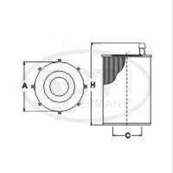 FILTRO ELEMENTO HU721/5X BMW SERIE 1/3/5/7 X1/X3/X5/X6