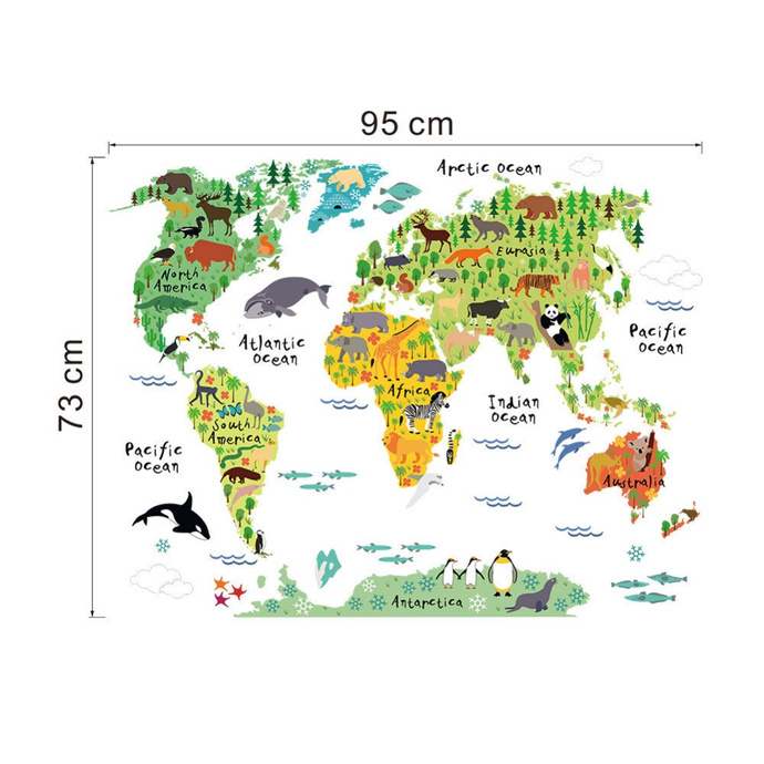Vinilo Mapa Minimondo