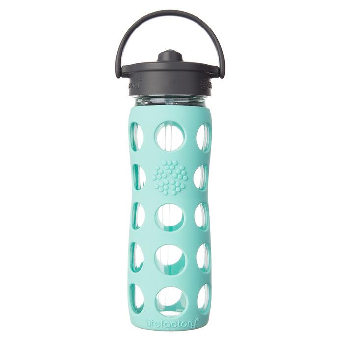 Botella de vidrio 475 ml. con bombilla