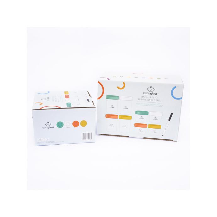 Pack 2 Set Babyglass: INCLUYE SET 4 contenedores 240 ml + 4 contenedores 120 ml  Y SET 4 contenedores 240 ml