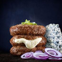 Hamburguesas rellenas con queso azul - 5 unidades 200 gr c/u