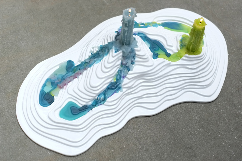 Topographic Candle Holder