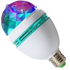 AMPOLLETA GIRATORIA LED BOLA DISCO FULL COLOR 3W