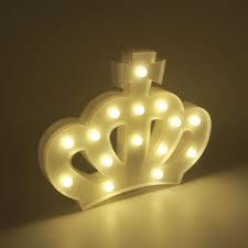 Lámpara Led Figura Corona Decoración Luz