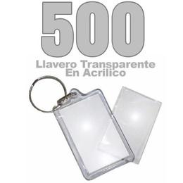 500 Llaveros Acrílicos Portafotos Publicitarios