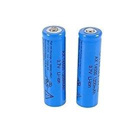 Pack 2 Pilas Baterias 14500 3.7v Li-ion 1200