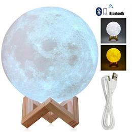 Lampara Luna Bluetooth Parlante 3d 15cms