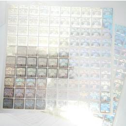 Pack 200 Sellos Holograficos Original Plata
