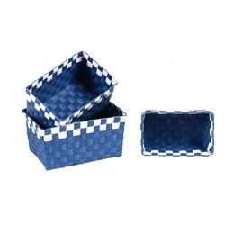 2 Pack 3 Canasto Cesta Kit Organizador Decorativo