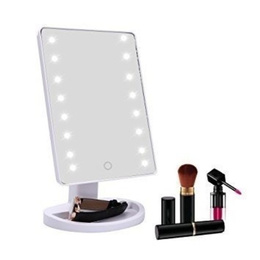 Pack 2 Espejos Maquillaje Luz 16 Led Regalo