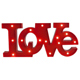 Pack 3 Lampara Led Figura Love Luz Led Enamorados