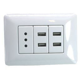 Enchufe Pared 220v. Usb Doble
