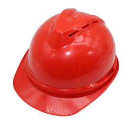 Casco Seguridad Rojo Emergencia Protección