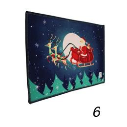 Pack 4 Alfombra piso Navidad Decoración