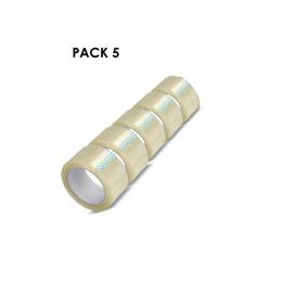 Pack 5 Huincha Embalaje 100metros Transparente Embalar